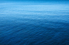 Mare blu Fotografia Stock Libera da Diritti