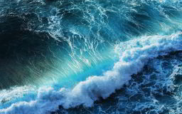 Mare blu Fotografie Stock