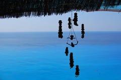 Mare blu in qualche luogo in Grecia Immagine Stock