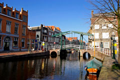 Mare Brug - Old bridge. Mare Brug in Leiden / Drawbridge Royalty Free Stock Image