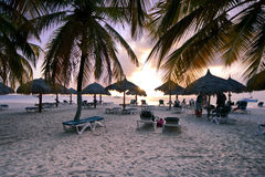 Mare caraibico all'alba Immagini Stock