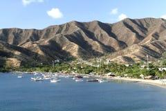 Mare caraibico. Baia di Taganga. La Colombia. Immagine Stock