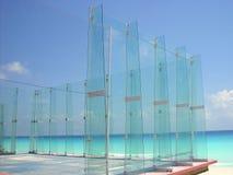 Mare caraibico del fron di vetro del campo di sport della pala Fotografia Stock