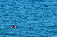 Mare che kayaking Fotografia Stock
