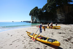 Mare che kayaking Immagini Stock Libere da Diritti