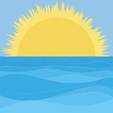 Mare, cielo e sole Immagine Stock