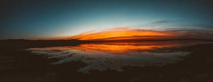 Mare, cielo, nuvole, paesaggio Fotografie Stock Libere da Diritti