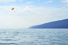 Mare, cielo, parasailing Fotografie Stock