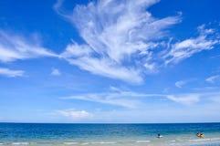 Mare con il jetski Fotografia Stock