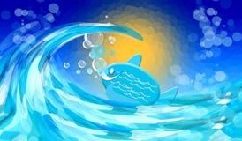 Mare con il pesce Fotografia Stock Libera da Diritti