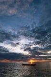 Mare con il tramonto Fotografia Stock Libera da Diritti