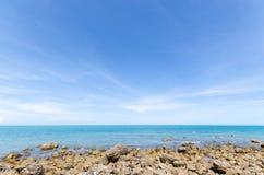 Mare con la pietra. Fotografia Stock Libera da Diritti