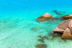 Mare con la pietra Fotografia Stock Libera da Diritti