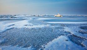 Mare congelato Fotografie Stock Libere da Diritti