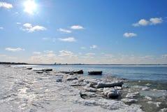 Mare congelato Immagine Stock
