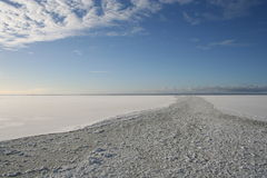 Mare congelato immagini stock libere da diritti