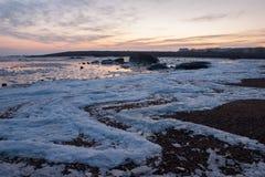 Mare congelato di Qingdao Fotografia Stock