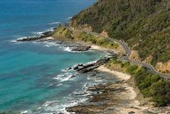 Mare dalla grande strada dell'oceano in Victoria, Australia Immagini Stock