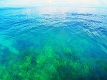 Mare del blu dell'acqua Fotografia Stock Libera da Diritti