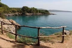 Mare del blu di Krk Fotografia Stock