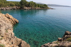 Mare del blu di Krk Fotografia Stock Libera da Diritti