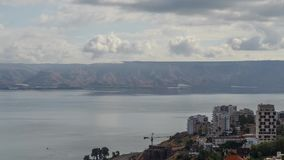 Mare del galilee Israele stock footage