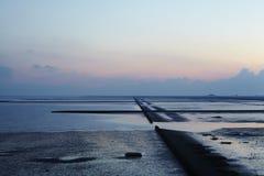 Mare del Nord (Luettmoorsiel) - Cloauds Fotografia Stock Libera da Diritti