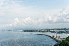 Mare del paesaggio del mare orientale, porto della Corea di Mukho Fotografia Stock