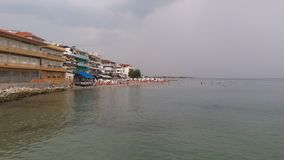 Mare del sole del beac di estate di Paralia Grecia Immagini Stock Libere da Diritti