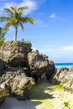 Mare dell'isola di Boracay Filippine, spiaggia, acqua, oceano, costa, blu, cielo, paesaggio, estate, natura, isola, viaggio, trop fotografia stock libera da diritti