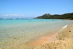 Mare dell'isola di Porquerolles in Francia Fotografie Stock Libere da Diritti