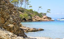Mare dell'isola di Porquerolles in Francia Immagine Stock