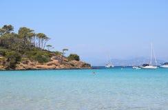 Mare dell'isola di Porquerolles in Francia Fotografia Stock Libera da Diritti