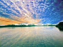 Mare della città del cielo Fotografie Stock