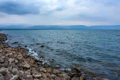 Mare della Galilea in Israele immagini stock libere da diritti