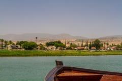 Mare della Galilea, Israele, vista dalla barca Fotografie Stock