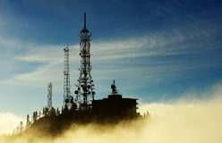 Mare della montagna delle nuvole Fotografia Stock