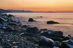 Mare di alba Fotografia Stock