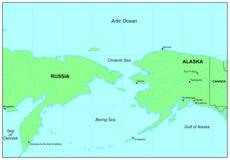 Mare di Bering Fotografia Stock