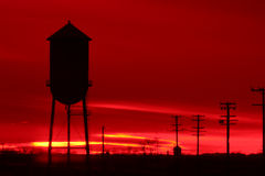 Mare di colore rosso. Fotografie Stock Libere da Diritti
