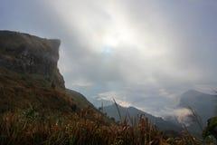 mare di foschia di mattina al 'chi' Fa di Phu Fotografie Stock