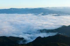 Mare di foschia sopra la foresta pluviale tropicale nella parte settentrionale di Th Fotografia Stock Libera da Diritti