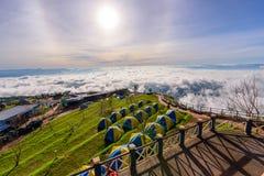 Mare di foschia sull'alta montagna Fotografie Stock Libere da Diritti