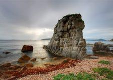 Mare di Giappone. Autunno. Tramonto 4 Immagine Stock