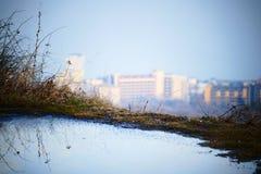 Mare di inverno della località di soggiorno del casinò Fotografie Stock Libere da Diritti