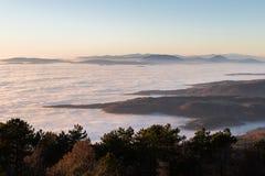 Mare di nebbia Fotografia Stock Libera da Diritti