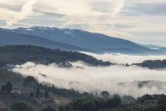 Mare di nebbia Immagine Stock Libera da Diritti