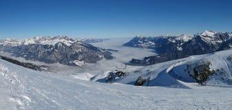 Mare di nebbia e delle montagne in st Gallen Canton Fotografia Stock Libera da Diritti