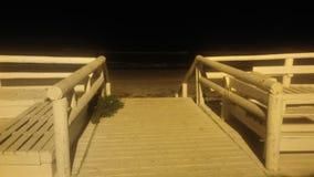 Mare di notte Fotografie Stock