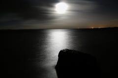 Mare di notte Fotografia Stock